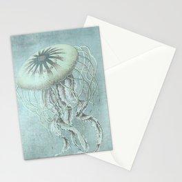 Jellyfish Underwater Aqua Turquoise Art Stationery Cards