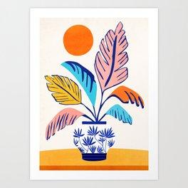 Summer Tropical Still Life Art Print