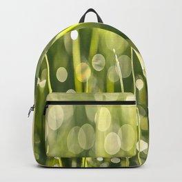 Beautiful Morning Dew On A Green Grass #decor #society6 #buyart Backpack