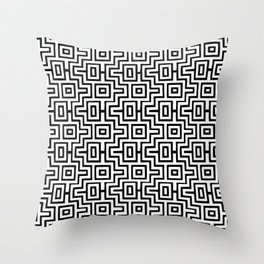 Black & White Choctaw Pattern Throw Pillow