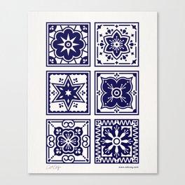 Talavera Mexican Tile – Porcelain Palette Canvas Print