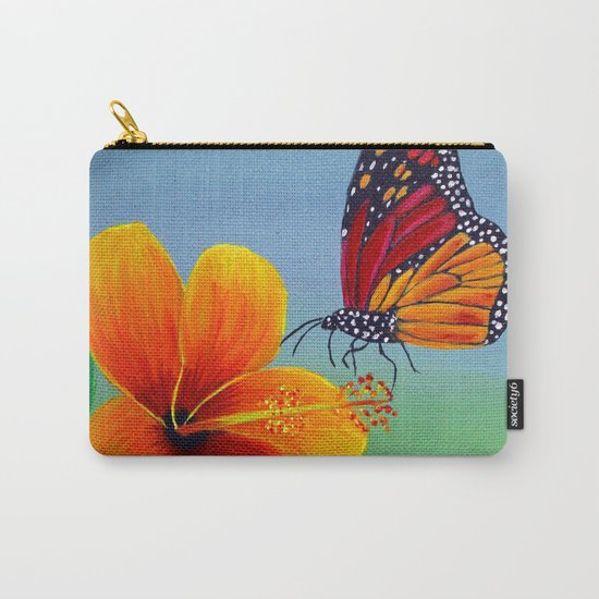 Lily with Butterfly Carry-All Pouch