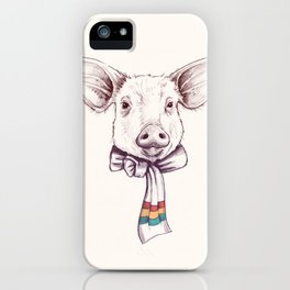 Pig and scarf iPhone Case