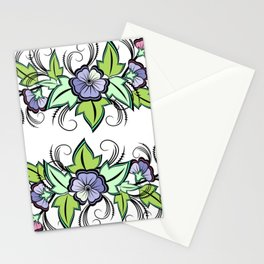 Abstract floral background Stationery Cards