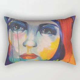 Colorful woman Rectangular Pillow