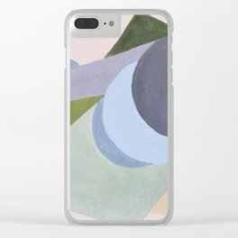 Green triangles Clear iPhone Case