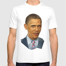 Obama 2012 SMALL White Mens Fitted Tee