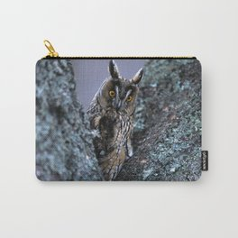 LONG-EARED OWL BETWEEN BRANCHES Carry-All Pouch
