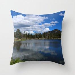 Sprague Lake Reflection Throw Pillow