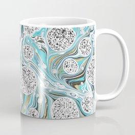 Ocean Surf Gold Marble Wave Summer Gems Coffee Mug