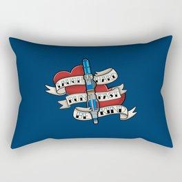 Laugh Hard, Run Fast, Be Kind Rectangular Pillow