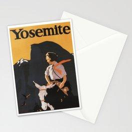Retro Yosemite Travel Poster Stationery Cards