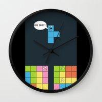 tetris Wall Clocks featuring Tetris by sEndro