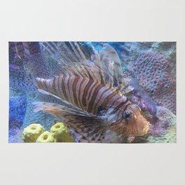 Lionfish in saltwater aquarium Rug