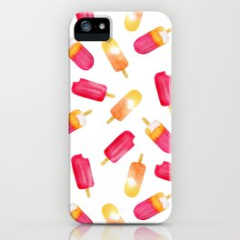 watercolor popsicle pattern iPhone Case