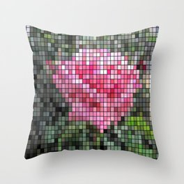 Pink Roses in Anzures 6 Mosaic Throw Pillow