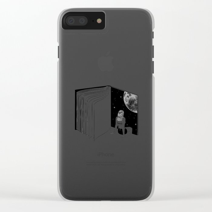 Reading is Dreaming with Your Eyes Open Clear iPhone Case