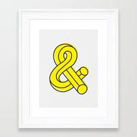 ampersand Framed Art Prints featuring Ampersand by MADEYOUL__K