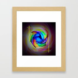 Abstract in perfection - Cube 5 Framed Art Print