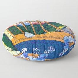 Asakusa Tanbo Tori No Machi Mode (after Hiroshige) Floor Pillow