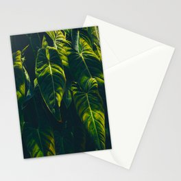 Alien Leaves Stationery Cards