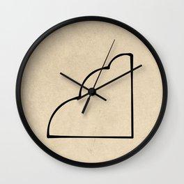 "Hieroglyphs - ""Q"" Wall Clock"