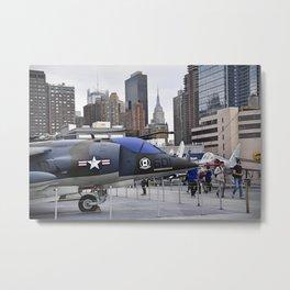 A British Harrier Jet in New York Metal Print