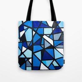 Blue Geometric Tote Bag