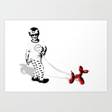 Walking Jeff  Art Print