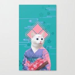 Geisha cat 02 Canvas Print
