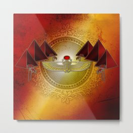 Egyptian sign, the scarab Metal Print
