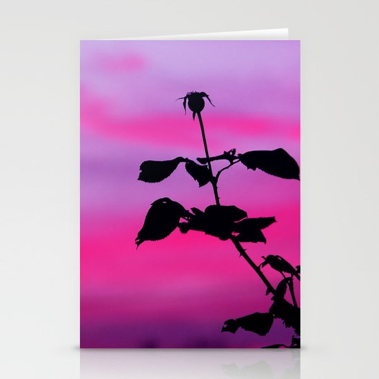 The Sunset of a Rose Stationery Cards