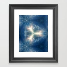 Signature of the blue sky of one day Framed Art Print