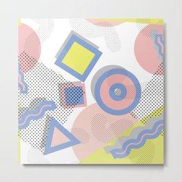 Memphis Geometric Pattern Metal Print