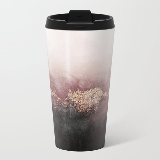 Pink Sky Metal Travel Mug