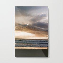 Crystal Waves Sunset after Storm - 35mm film Metal Print