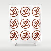 om Shower Curtains featuring Om  by krossculture