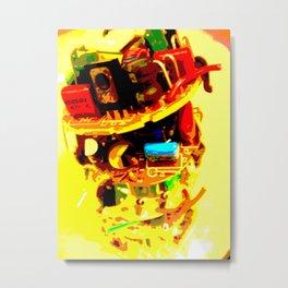 electric banana Metal Print