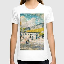 Classical Masterpiece 'Palace of the Tuileries on the Seine River, Paris' by Frederick Childe Hassam T-shirt