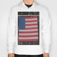 american flag Hoodies featuring American Flag by Photaugraffiti