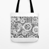 steampunk Tote Bags featuring Steampunk by Squidoodle
