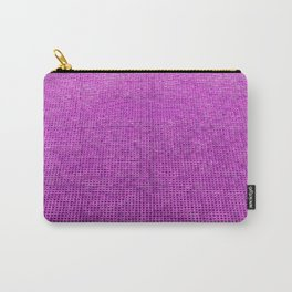 Woven Structure neon pink Carry-All Pouch