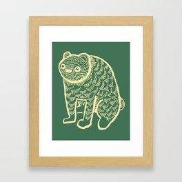 Sort of Bear Framed Art Print