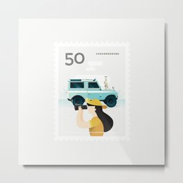Stamp : Cities #7 - Johannesburg Metal Print