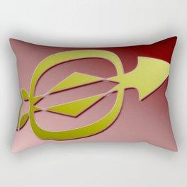 Golden arrow Rectangular Pillow