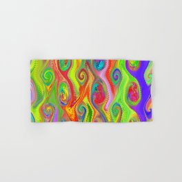 Psychedelic Colorful Abstract Swirl pattern Hand & Bath Towel