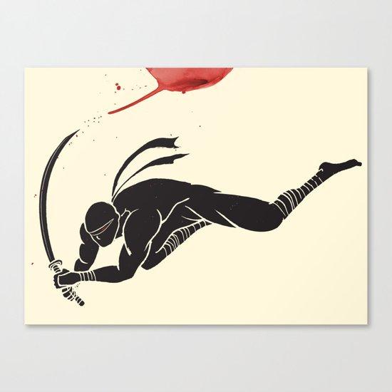 Ninja! Heads will roll! Canvas Print