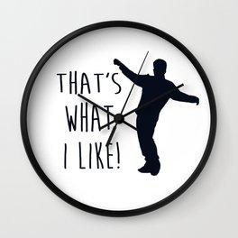 that's what i like bruno design Wall Clock