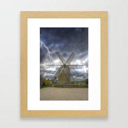 Heage Windmill storm Framed Art Print