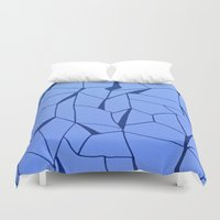 blueprint Duvet Covers featuring BluePrint by Elina Larsson